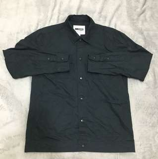 H:connect黑色襯衫外套