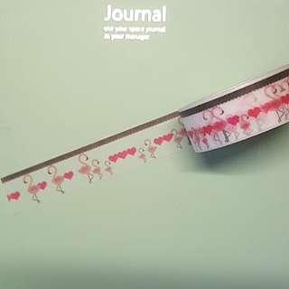 Flamingo heart washi tape