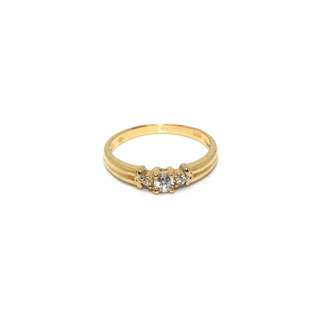 Just Jewels Lady Ring with Diamonds Yellow Gold
