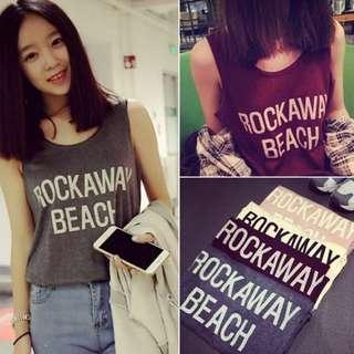 Grey Rockaway Beach Tanktop