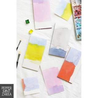 Card Lover Note For Reflection Water Color Memo Series 1PCS (4designs)