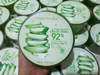 Nature Republic 92% Aloe Vera Soothing Gel 300 ml / Full Size