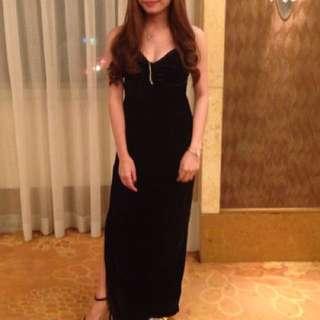 Black long gown