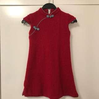 (Size130) Chou Chou chic 羊毛旗袍