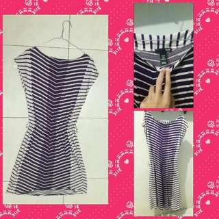 Stripped dress HnM