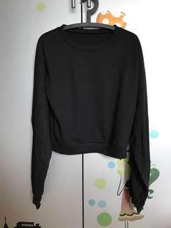 日本黑色特別袖衞衣