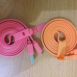 New Kabel USB Gepeng Warna Panjang (HARGA SATUAN!)