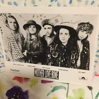 Mother Love Bone - original promo photo - grunge era collectable Pearl Jam members