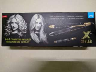 JML Styler 2-in-1 Straightener and Curler