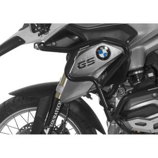 Stainless steel crash bar extension, black for BMW R1200GS (2013-2016)
