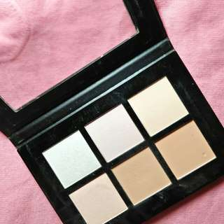 Contour, highlight,  blush, bronzer Palette