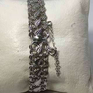 "Pre-Loved ELCO Italian 925 silver toggle bracelet 7.5""Lenght and 21.6 grams"