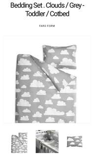 Grey Clouds Quilt Cover and Pillow Case