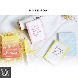 Note For - Rainbow Dreams - Tear-off Memo Pad (88 printed sheets / 100g paper)