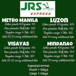 JRS/LBC SHIPPING RATES