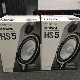Yamaha HS5 (pair) 1 year warranty