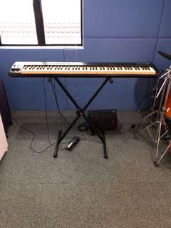 M Audio/studio monitor 88 keys semi weighted keyboard and