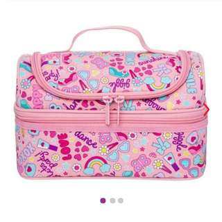 Smiggle snaps double decker lunchbox (pink)