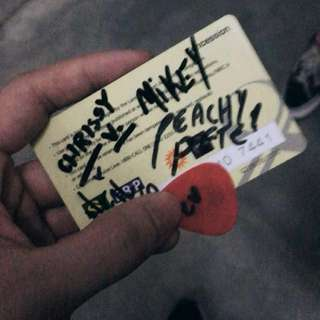 Peach Pit Chris Signed Pick