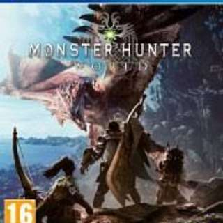 Pre owned Monster hunter world ps4