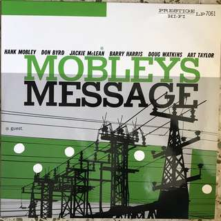 Hank Mobley ‎– Mobley's Message LP