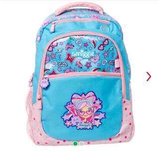 Smiggle squad backpack (blue)