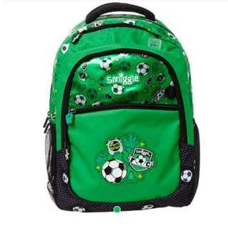Smiggle squad backpack (green)