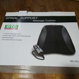 BNIB OTO spinal support massage cushion