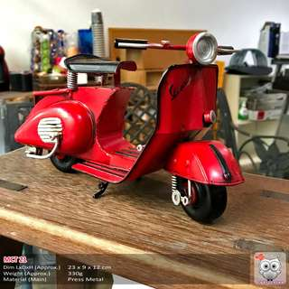 Vintage Red Scooter (Price Nego)