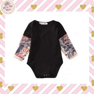 < Instock > Tatoo Sleeve Romper