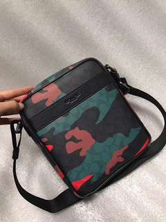 Coach Charles Flight Bag in Signature Camo Print Coated Canvas