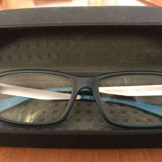 Nike reading glasses blue sporty