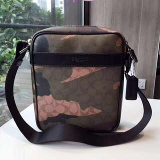 Coach Charles Flight Pack in Camo Print