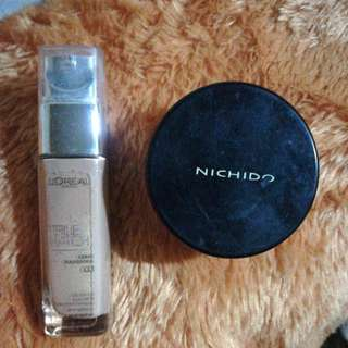 Loreal True Match foundation G3 and Nichido Powder BUNDLE