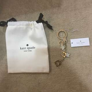 Kate Spade key ring/bag charm