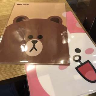 LINE FRIENDS Brown & Cony A4 size file