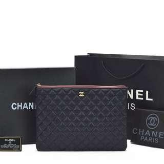Pouch Chanel O Case Classic Caviar Hitam AC515-1 + Box Chanel - SEMI PREMIUM -