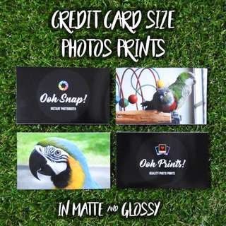 <PROMO> Credit Card Size Photo Prints