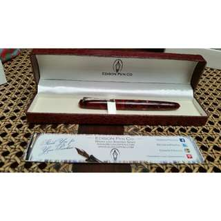 Edison Collier Violet Flake fountain pen w/ 1.1nib