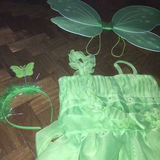TINKER BELL COSTUME (COLOR GREEN)
