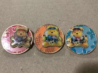 日本 迪士尼徽章 DISNEY PIN  Pooh  維尼 夏威夷系列