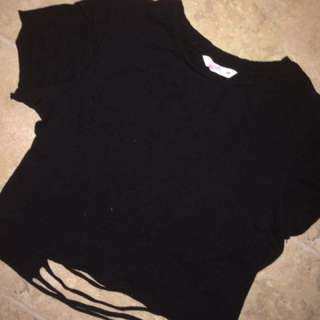 Supre ripped black top