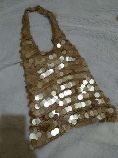 Golden Bling Shoulder Bag