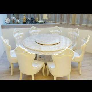 歐式餐桌/餐椅/餐桌椅組(含6張餐椅,餐椅可另外多加購)