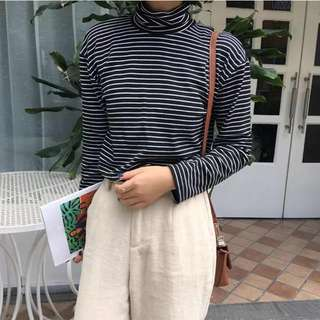 Dovetail Striped Turtleneck