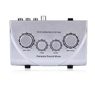 Fifine Technology DVD Karaoke System, Karaoke Sound Mixer (Silver)