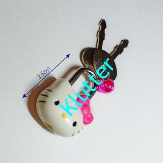 Klutter $12 - Hello Kitty Small Lock With Keys
