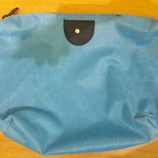 Preloved Pouch Tas Biru Muda Long Champs