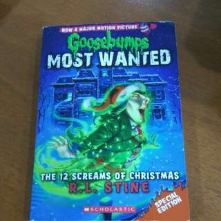 goosebumps most wanted 12 screams of Christmas