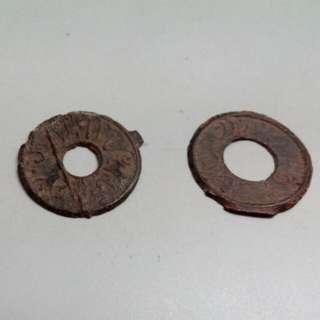 Free Post 2 pcs Indonesia Palembang Tin Pitis